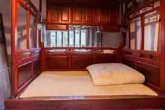 传统卧室在台湾 图库摄影