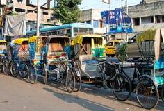 传统印地安人力车 库存照片