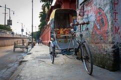 传统印地安人力车 免版税库存图片