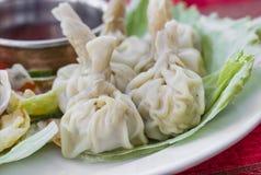 传统印地安食物粤式点心饺子 库存照片