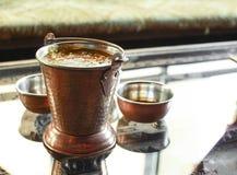 传统印地安食物- Dal Makhni汤 免版税图库摄影