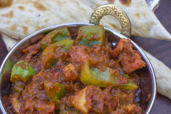 传统印地安食物Kadhai鸡Tawa羊肉 库存图片