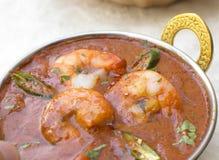 传统印地安tikka大虾Vindaloo 免版税库存图片