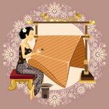 传统印度尼西亚蜡染布 库存图片