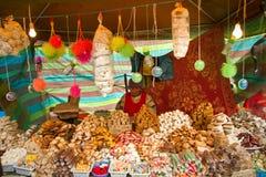 传统厄瓜多尔甜点摊位 免版税库存图片