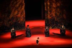 传统压缩现代芭蕾:中华的金莲花 库存照片