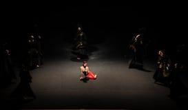 传统压缩现代芭蕾:中华的金莲花 库存图片