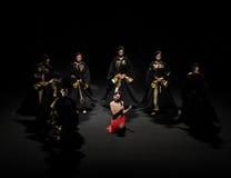 传统压缩现代芭蕾:中华的金莲花 免版税图库摄影