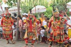 传统巴厘语的舞蹈 图库摄影