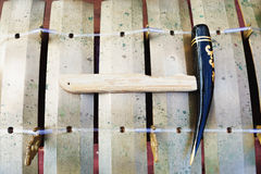 传统巴厘语音乐打击乐器-木琴 免版税库存照片