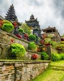 传统巴厘语建筑学。Pura Besakih寺庙 库存照片