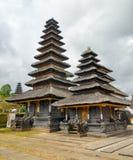 传统巴厘语建筑学。Pura Besakih寺庙 免版税库存图片
