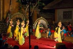 传统巴厘语Legong和Barong舞蹈 库存图片