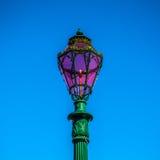 传统古老威尼斯式街灯特写镜头 图库摄影