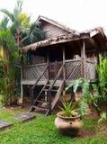 传统古色古香的木屋,马来西亚 免版税库存照片