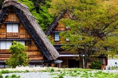 传统和历史日本村庄Ogimachi -白川町去,日本 免版税库存图片