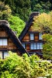 传统和历史日本村庄Ogimachi -白川町去,日本 库存照片