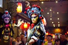 传统四川中国人歌剧 免版税库存图片