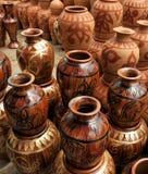 传统黏土的瓦器 图库摄影