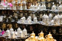 传统土耳其咖啡集合 免版税库存图片