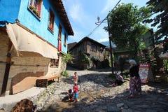 传统土耳其村庄 库存照片