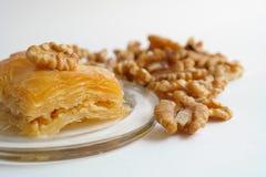传统土耳其点心果仁蜜酥饼 库存照片