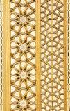 传统土耳其花卉木装饰品 免版税图库摄影