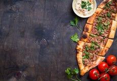 传统土耳其面包pide 免版税库存图片