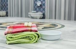 传统土耳其浴材料 库存照片
