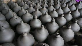 传统黏土potteries 库存照片