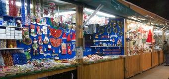 传统圣诞节公平在Sagrada Familia附近 免版税库存图片