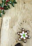 传统圣诞节姜饼曲奇饼 免版税库存图片
