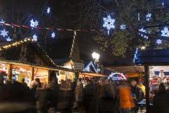 传统圣诞节市场在史特拉斯堡,法国 图库摄影