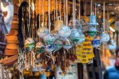 传统圣诞节市场装饰 图库摄影