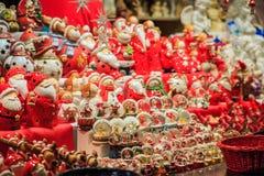 传统圣诞节市场 免版税图库摄影