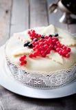 传统圣诞节果子蛋糕布丁 免版税库存图片