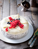 传统圣诞节果子蛋糕布丁 免版税库存照片