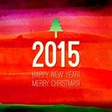 传统圣诞节设计元素 水彩 免版税图库摄影