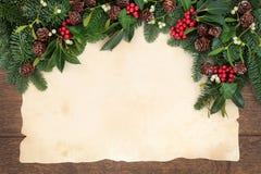 传统圣诞节边界 免版税库存图片