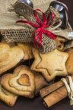 传统圣诞节香料饼干 库存照片
