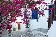 传统地中海房子 免版税库存照片