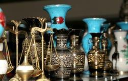 传统地方纪念品在约旦 库存照片