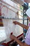 传统地毯制造商 免版税库存照片