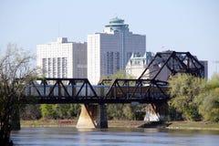 传统城市铁路桥 库存图片