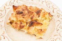 传统塞尔维亚乳酪饼gibanica 免版税库存图片