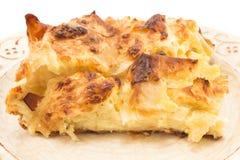 传统塞尔维亚乳酪饼gibanica 库存照片
