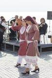 传统塞浦路斯的服装的妇女 免版税库存照片