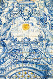 传统墙壁瓦片装饰,马德拉岛 库存图片