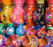 传统墨西哥瓦器艺术 免版税库存图片