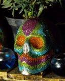 传统墨西哥糖头骨细节 免版税图库摄影
